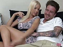 Super creampie for a hot Swedish beauty with beautiful but thick perky boobs
