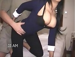 Girl asian big tits gives glasses twat a full fuck