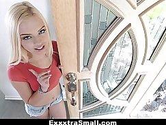 Petite blonde takes on big dick