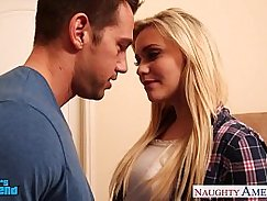 Blonde babe gets creamed and facial