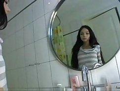 Absolutly beautiful teen in the bathroom