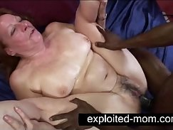 black granny nicely toying with cock