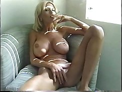 Blonde MILF smokes and fucked by her mans friend in the pool