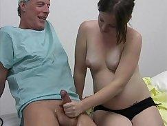 horny doctor is giving good handjob to patient Kathleen Steel