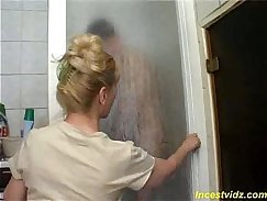Bathroom fuck from Russia- Hot son out to fuck