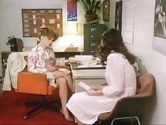 Anna Kryölz in Nacho Vintage Red Pants tied up by teacher