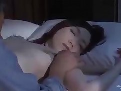Arousing Japanese Shay cuts off her clothes so she could sleep